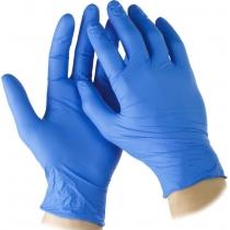 Перчатки нитриловые синие, размер S, 100 шт