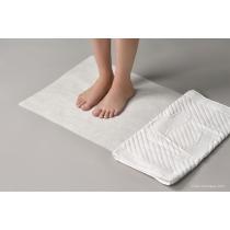 Коврик махровый белый 50х70 ножки