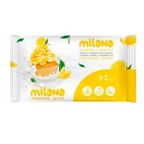 Салфетки влажные с ароматом лимонного пирога 72 шт