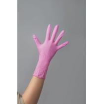 Перчатки розовые 100 шт размер XS