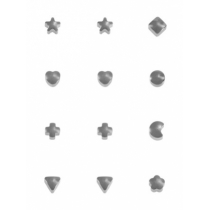 Серьги формы в ассортименте, без покрытия, размер средний
