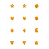 Серьги формы в ассортименте, покрытие золото, размер средний