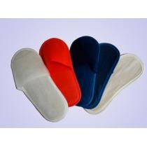 Тапочки одноразовые на жесткой подошве арт. Т-4050 размер 43-44 цвет КРАСНЫЙ